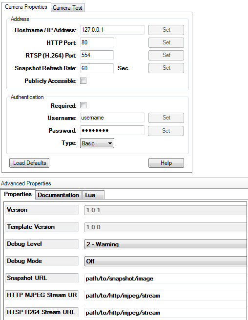 Control4 driver for Generic Fixed IP Camera (FREE) | yatundev eu